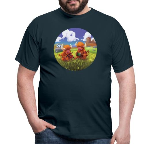 Highland cows from Scotland - T-shirt Homme