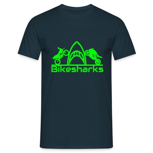 Bikesharkslogo Grün - Männer T-Shirt