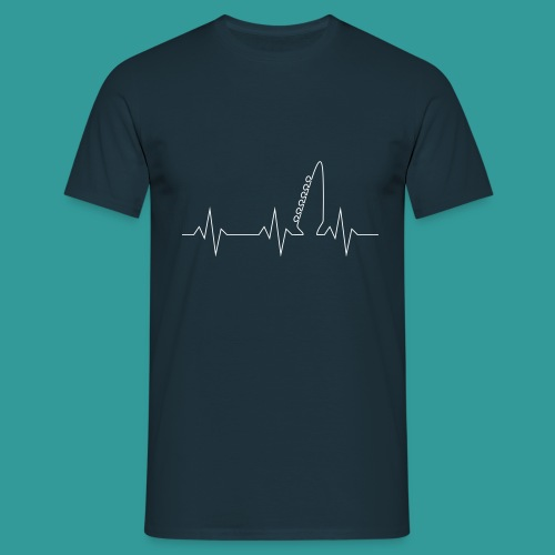 Guitar Pulse - Men's T-Shirt