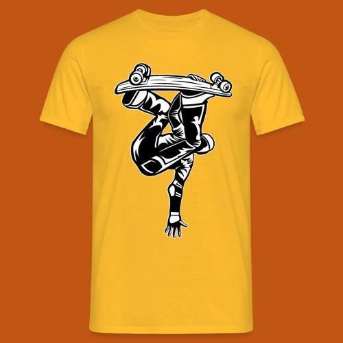 Skater / Skateboarder 03_schwarz weiß - Männer T-Shirt