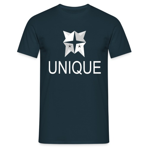 UNIQUE Logo White - Männer T-Shirt
