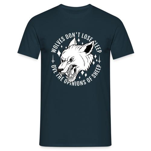 Wölfe schlafen nicht - Männer T-Shirt