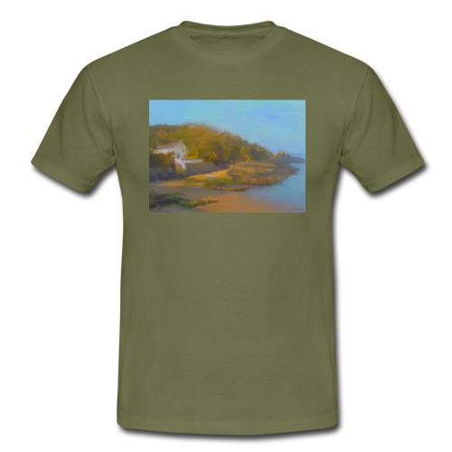 Cwm yr Eglwys beach Pembrokeshire - Men's T-Shirt
