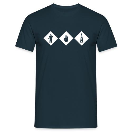 workhard - Männer T-Shirt