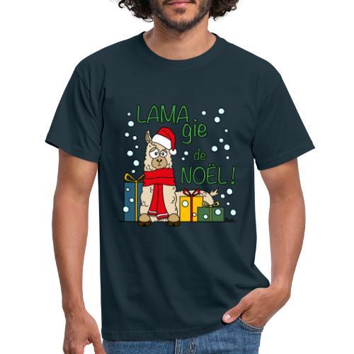 Lama, Magie de Noël, Happy Christmas, Pull moche - T-shirt Homme