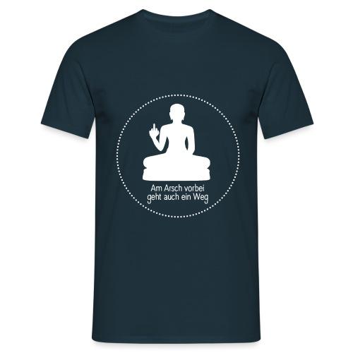 AA vorbei weiß Kreis - Männer T-Shirt
