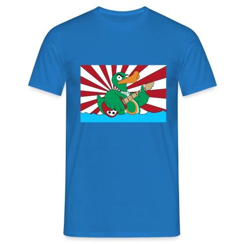 wild duck flagge mit linien - Männer T-Shirt