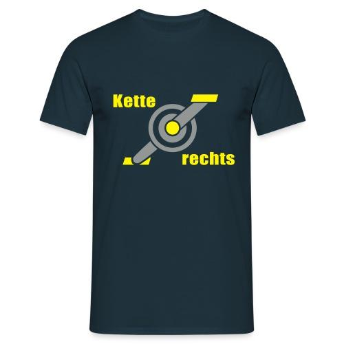 Kette rechts - Fahrrad Rennrad Kurbel - Männer T-Shirt