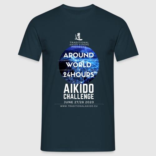 TAE Around the World in 24 Hours AIKIDO CHALLENGE - Men's T-Shirt