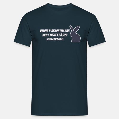Denne T-skjorten har vært testet på dyr ...
