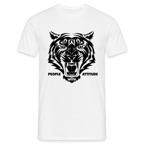 tijger-zwart - Mannen T-shirt