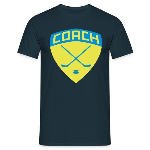 ice-hockey-coach-blue_vec - Men's T-Shirt