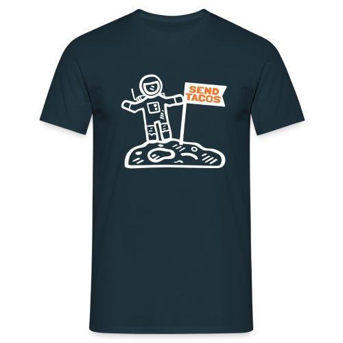 Taco Lover Astronaut Moon Walker Send Tacos - Men's T-Shirt