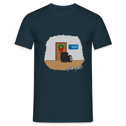 Hjulen för dörren - Vit - T-shirt herr