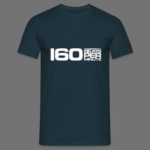 160 BPM (hvid lang) - Herre-T-shirt