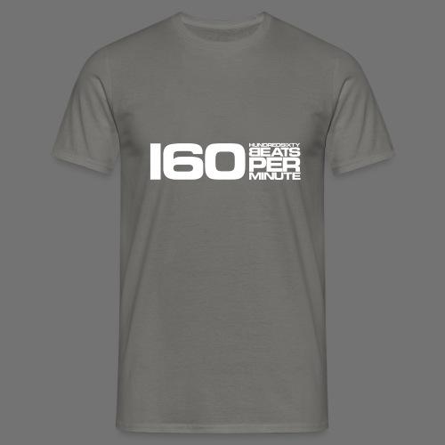 160 BPM (valkoinen pitkä) - Miesten t-paita