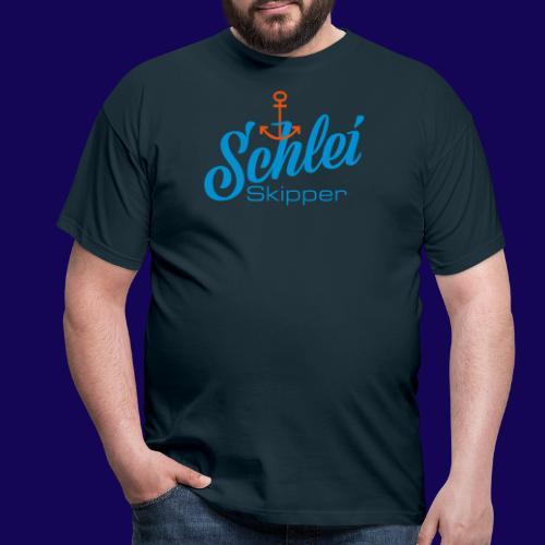 Schlei-Skipper mit Anker - Männer T-Shirt