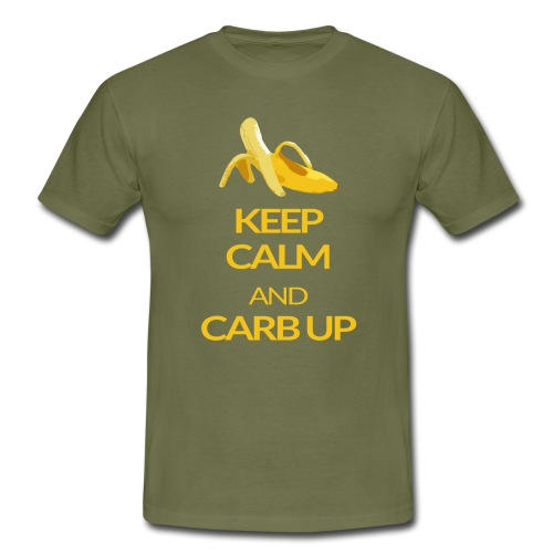 KEEP CALM and CARB UP - Männer T-Shirt