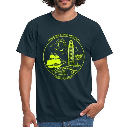 Schiff mit Leuchtturm - Männer T-Shirt