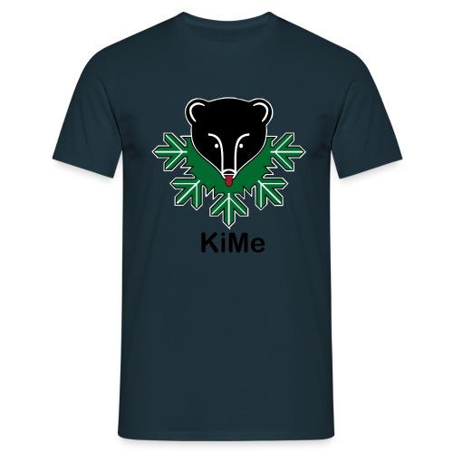 KiMe karhu mustalla tekstilla - Miesten t-paita