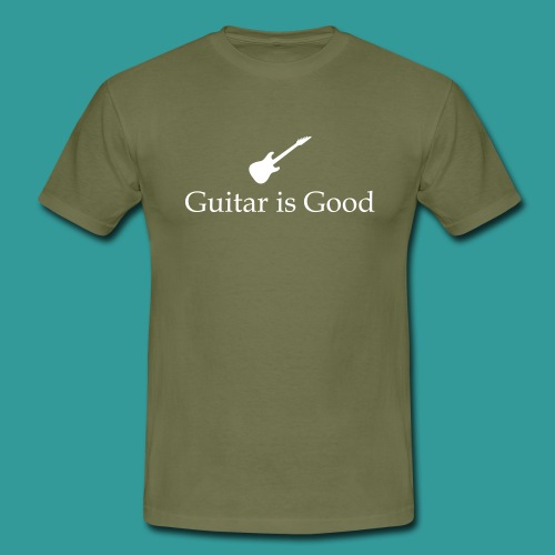 Guitar is Good Logo With Text - Men's T-Shirt