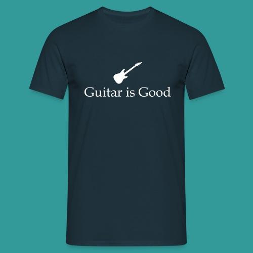 Guitar is Good Logo With Text - Men's T-Shirt