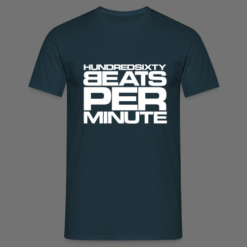 160 BPM (hvid stavefejl) - Herre-T-shirt