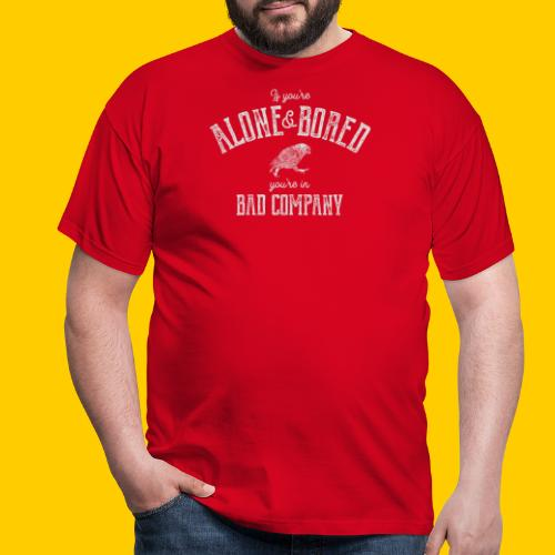 Alone and bored - T-shirt herr