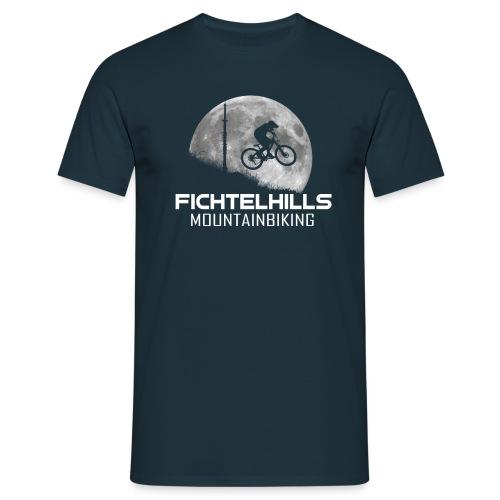 fichtelhills mountainbiking night ride fullmoon - Männer T-Shirt