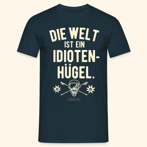 Apres Ski T Shirt Design Idiotenhügel - Männer T-Shirt