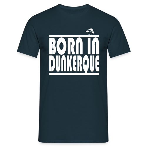 BORN IN DUNKERQUE - WHITE - T-shirt Homme