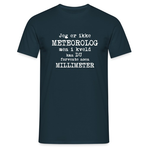 Millimeter i Kveld - T-skjorte for menn