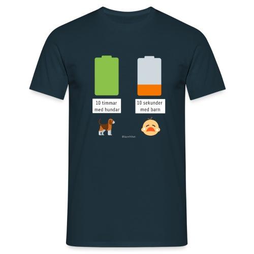 Livsbatteriet HUND - T-shirt herr