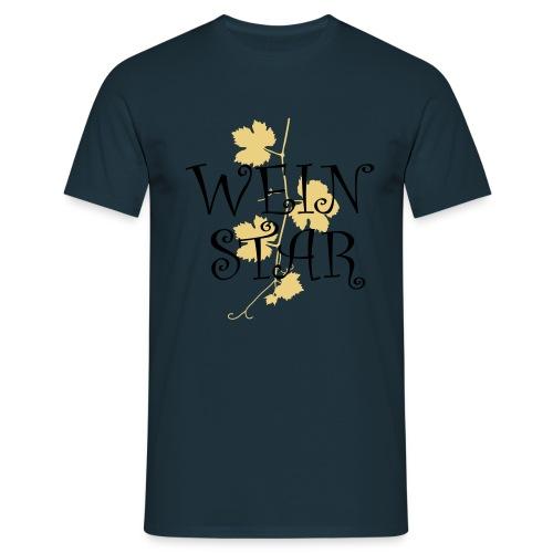 wein star - Männer T-Shirt