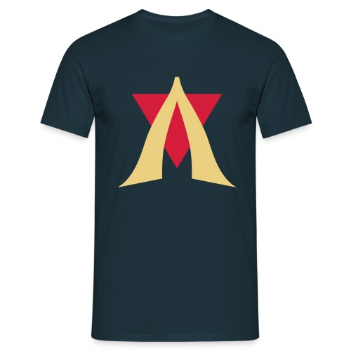V Logo Jimmy Casket - Men's T-Shirt