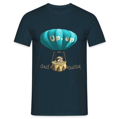 Up up and away - Auf und davon - Männer T-Shirt