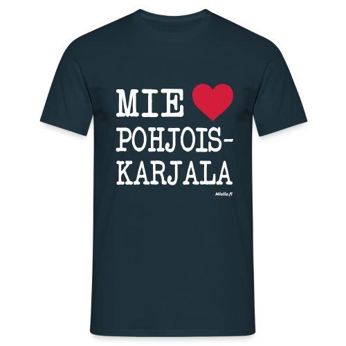 Mie love Rakastan Pohjois-Karjala - Miesten t-paita