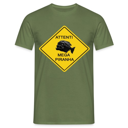 mega piranha - Maglietta da uomo