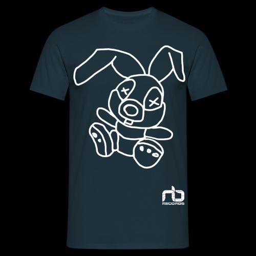 nb reclogo dropout white gif - Men's T-Shirt