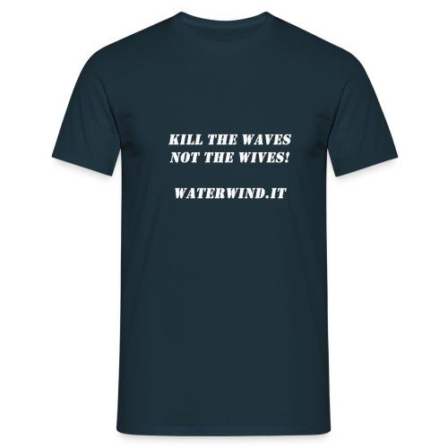 Kill the waves bianco - Men's T-Shirt