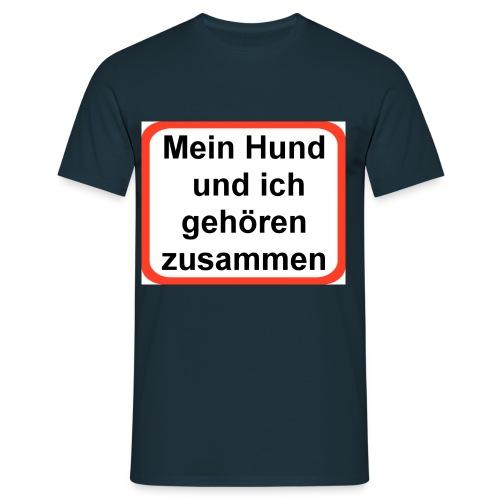 Hund und Bahn - Männer T-Shirt