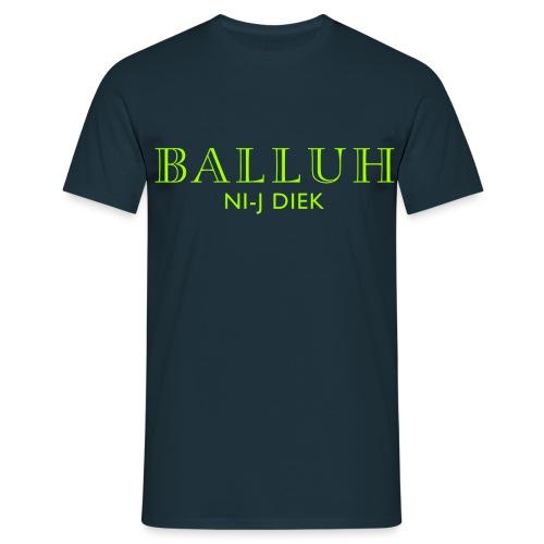 BALLUH NI-J DIEK - navy/neon - Mannen T-shirt