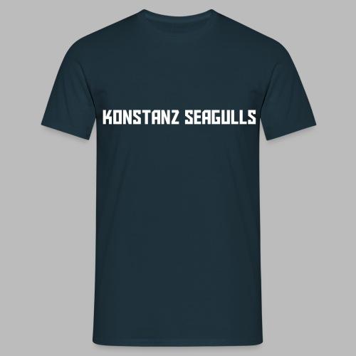 Schriftzug weiß - Männer T-Shirt