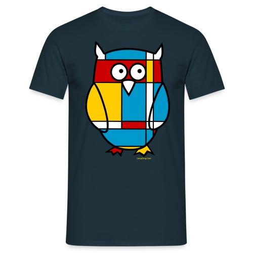 Mondrian Owl - Men's T-Shirt