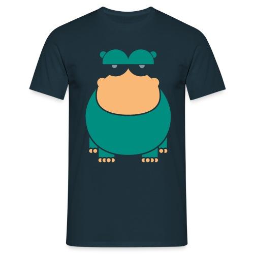 insolent hippo_darkgreen - Männer T-Shirt