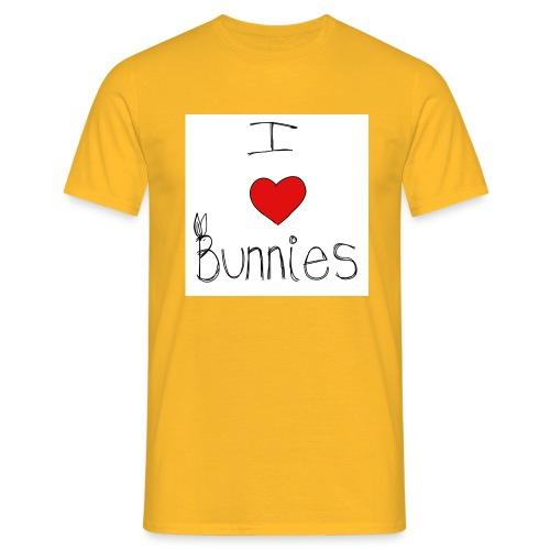 I Love Bunnies - Men's T-Shirt