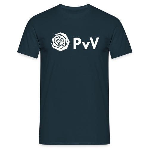 PvdA PvV zwart - Mannen T-shirt