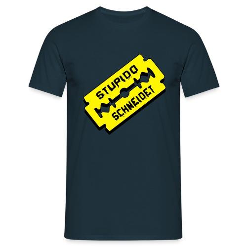 Stupido schneidet Logo - Männer T-Shirt