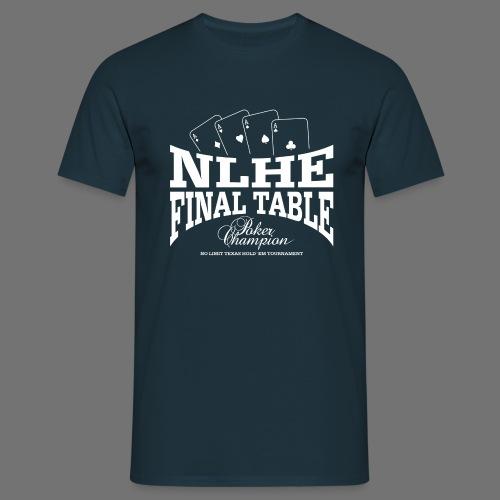 NLHE Final Table (1c hvid) - Herre-T-shirt