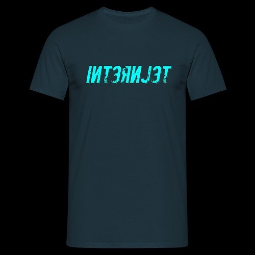 Internjet cyan - Miesten t-paita